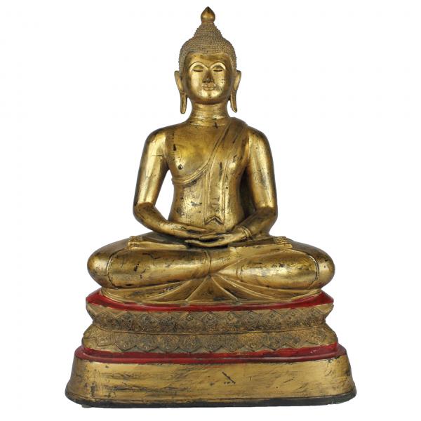 Amitabha Boeddha brons met bladgoud