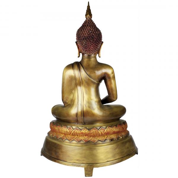 Achterzijde mediterende Amitabha Boeddha