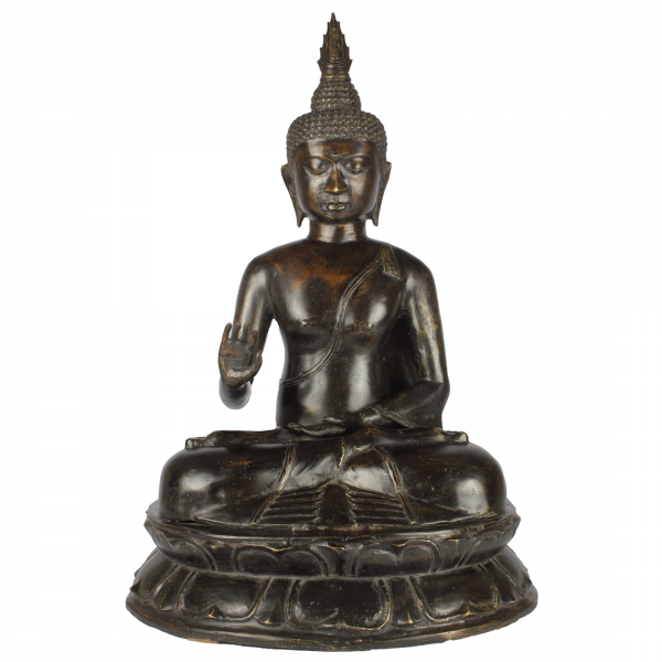 Sukhothai Boeddha brons Abhaya Mudra