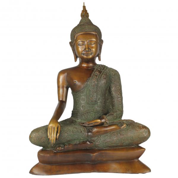 Sukhothai Boeddha brons in Bhumisparsa Mudra