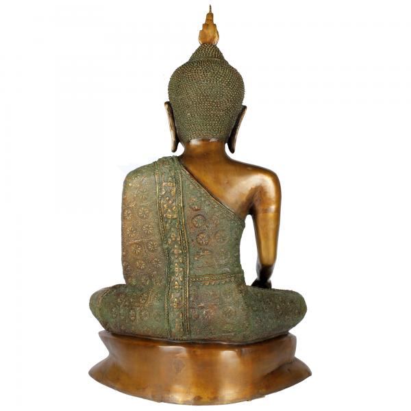 Achterzijde Sukhothai Boeddha brons