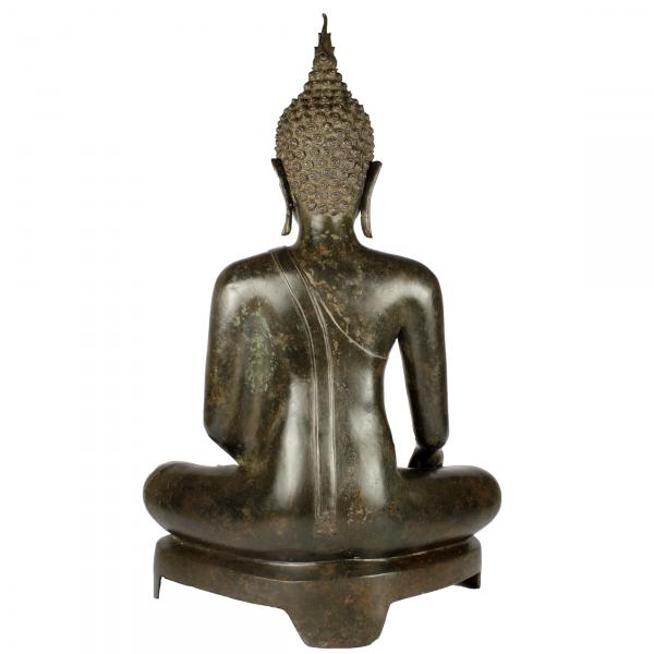 Achterkant Akshobhya Sukhothai Boeddha