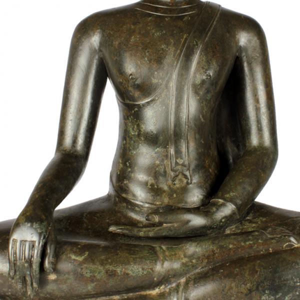 Detail Akshobhya Sukhothai Boeddha Bhumisparsa Mudra