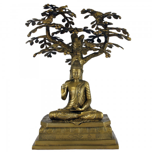 Boeddha Gautama onder een Bodhiboom