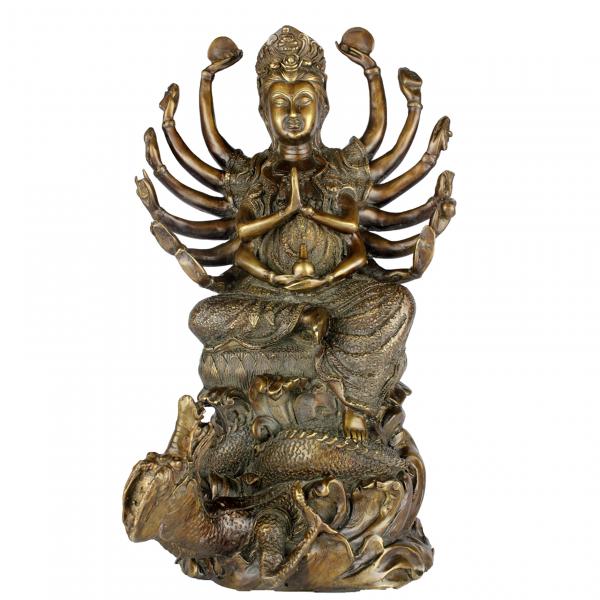 KwanYin Bodhisattva op draak