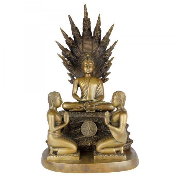 Boeddha Amitabha in meditatie beschermd door Naga