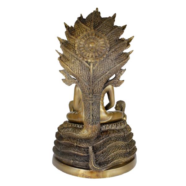 Achterkant Boeddha Amitabha op Naga