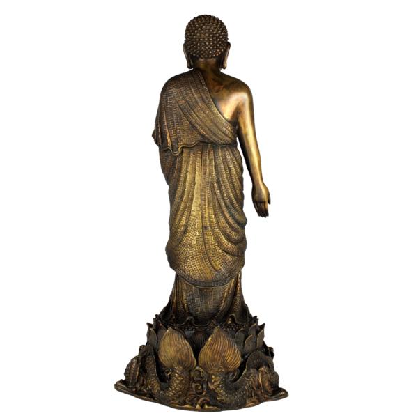 Achterkant van de staande Vairocana Boeddha