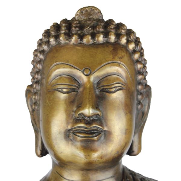 Detail hoofd van Vairocana Boeddha