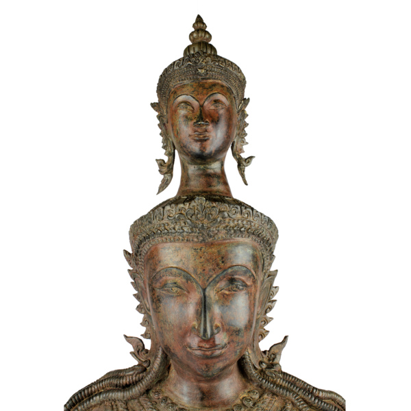 Twee Boeddha hoofden