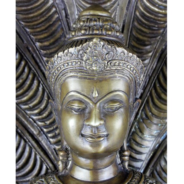 Detail hoofd van Amitabha