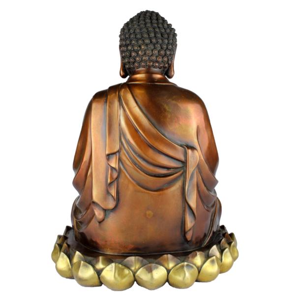 Achterkant van Boeddha Amida