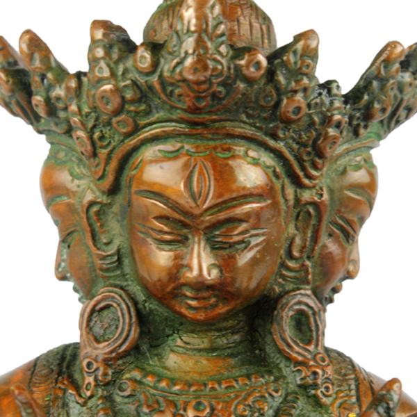 Close-up hoofd van Prajnaparamita