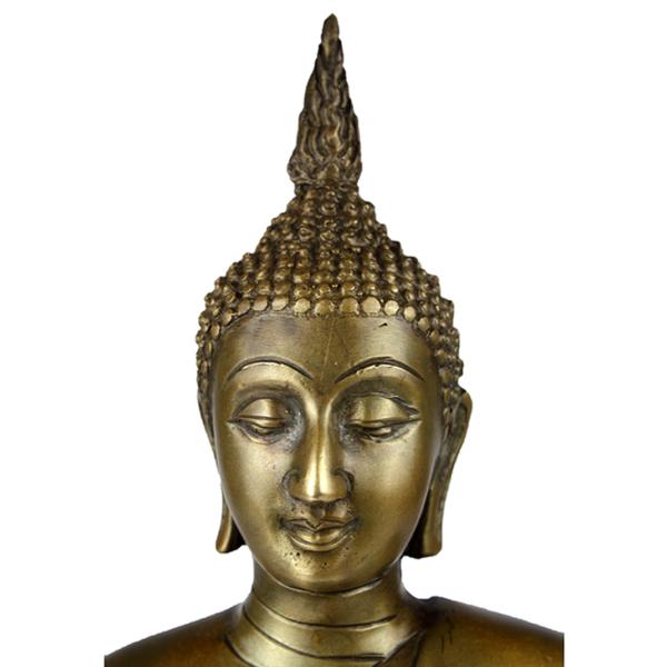 Close-up hoofd Sukhothai Boeddha Ratnasambhava