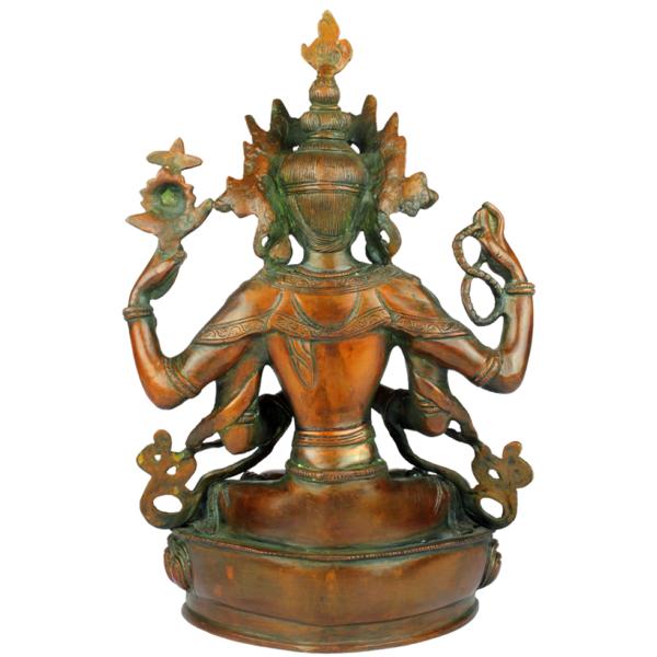 Achterkant van Boeddha Sadaksari Lokeshvara