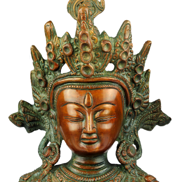 Close-up hoofd van Sadaksari Lokeshvara