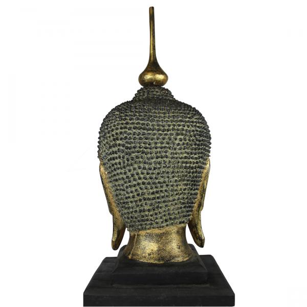 Achter aanzicht Sukhothai Boeddhahoofd