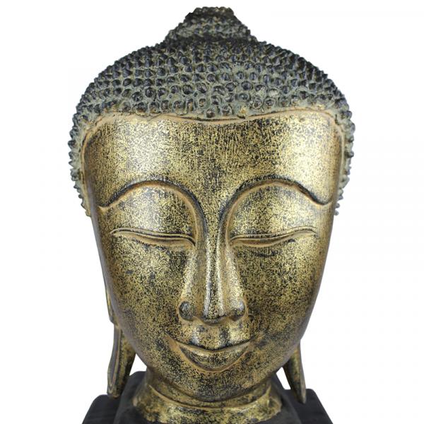 Sukhothai Boeddhahoofd close-up