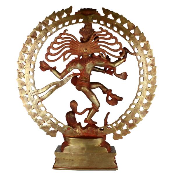 Achterkant van dansende Shiva Nataraja