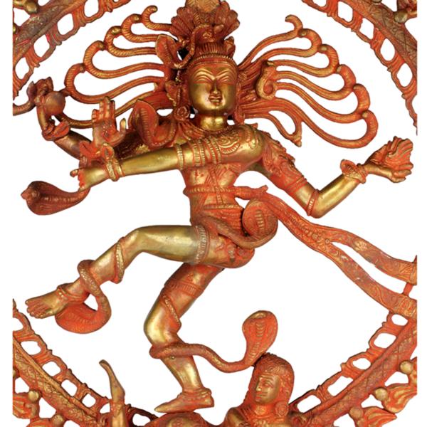 Detail van dansende Shiva Nataraja