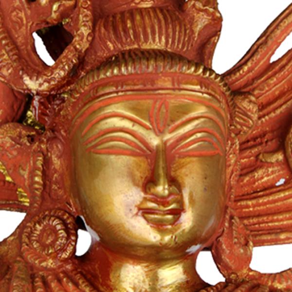 Detail van het hoofd van Shiva Nataraja