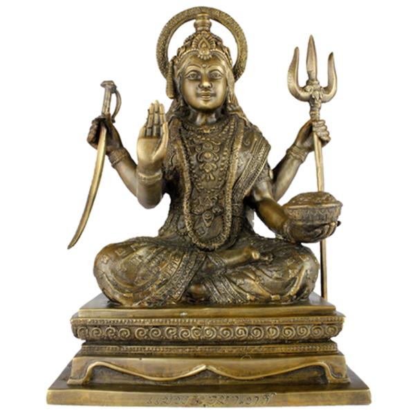 Zittende Shiva met vier armen
