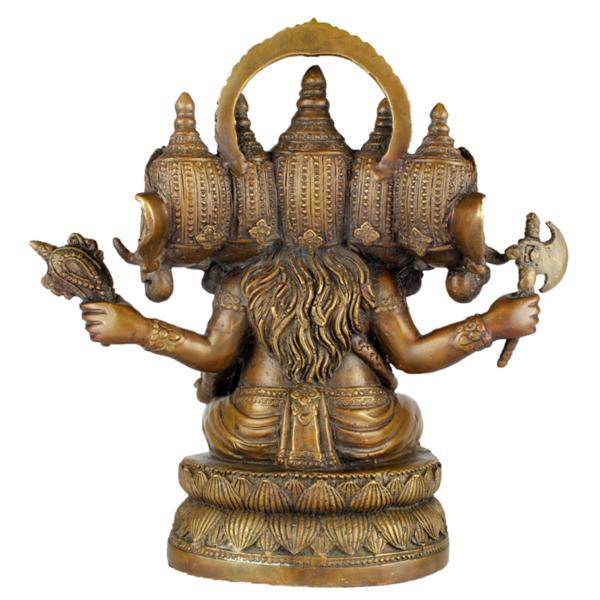 Achterkant van Ganesha