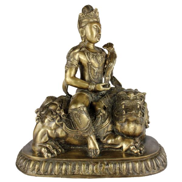 Durga op rijdier de leeuwin