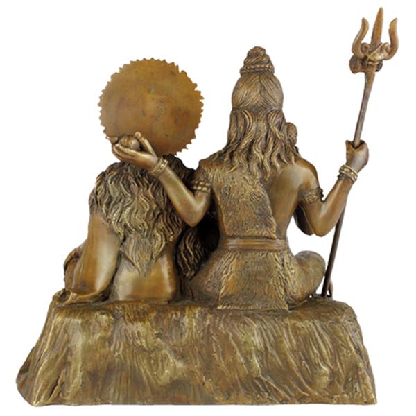 Achterkant van Shiva, Parvati en Ganesha