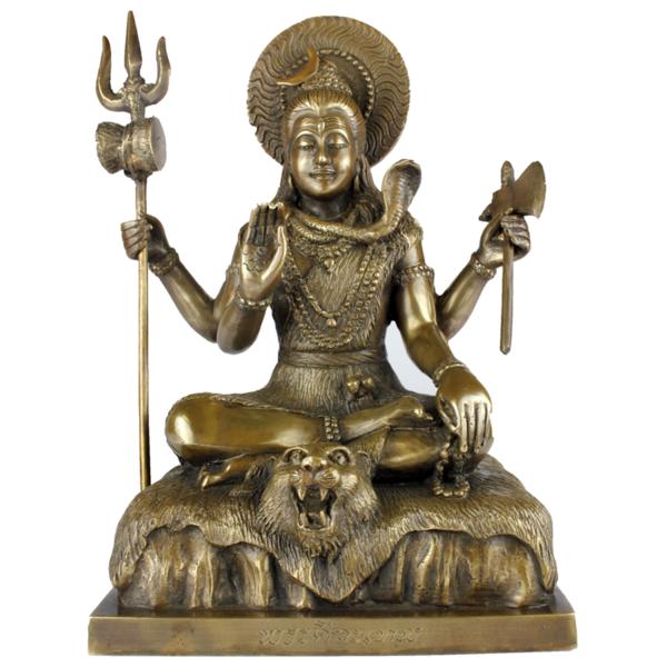 Zittende Shiva met vier handen