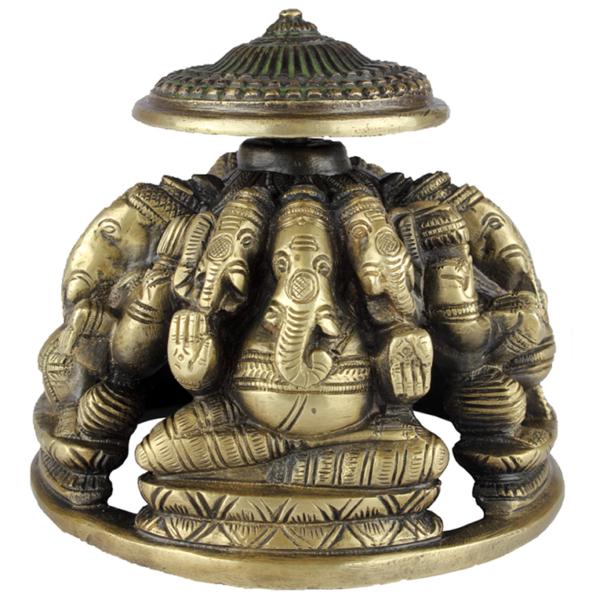 Vijf keer Ganesha onder Parasol 1