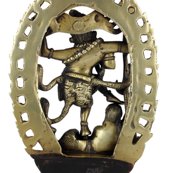 Achterkant dansende Shiva Nataraja